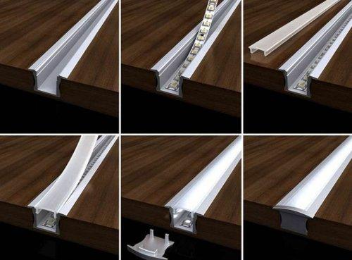 Монтаж профиля для светодиодной ленты